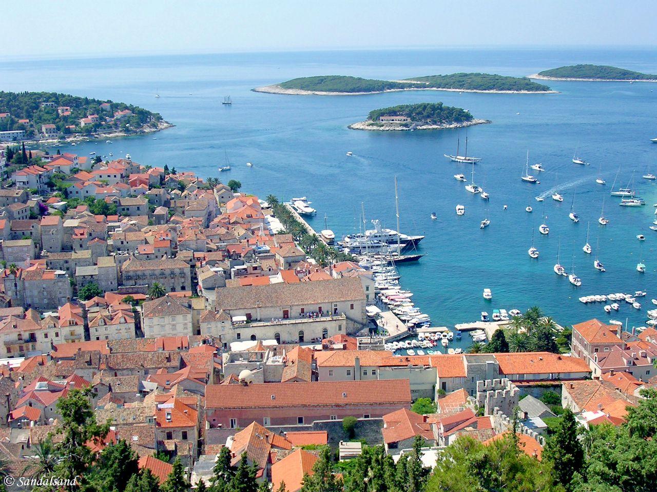 Croatia - View of Hvar City from the citadel