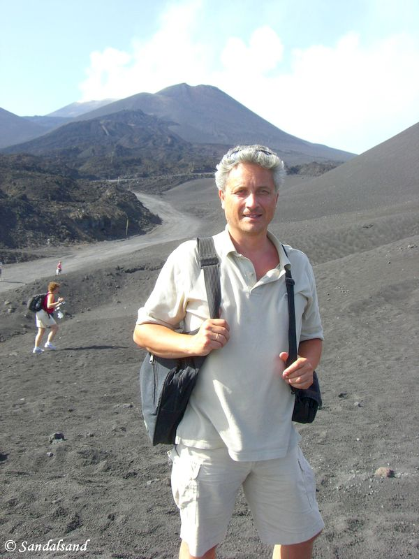 Italy - Sicilia - Etna - 2008 - Picture of Bård Humberset, the author of Sandalsand