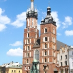 Poland - Krakow - St. Mary's Basilica on Rynek Square
