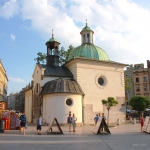 Poland - Krakow - Church of St. Wojciech on Rynek Square