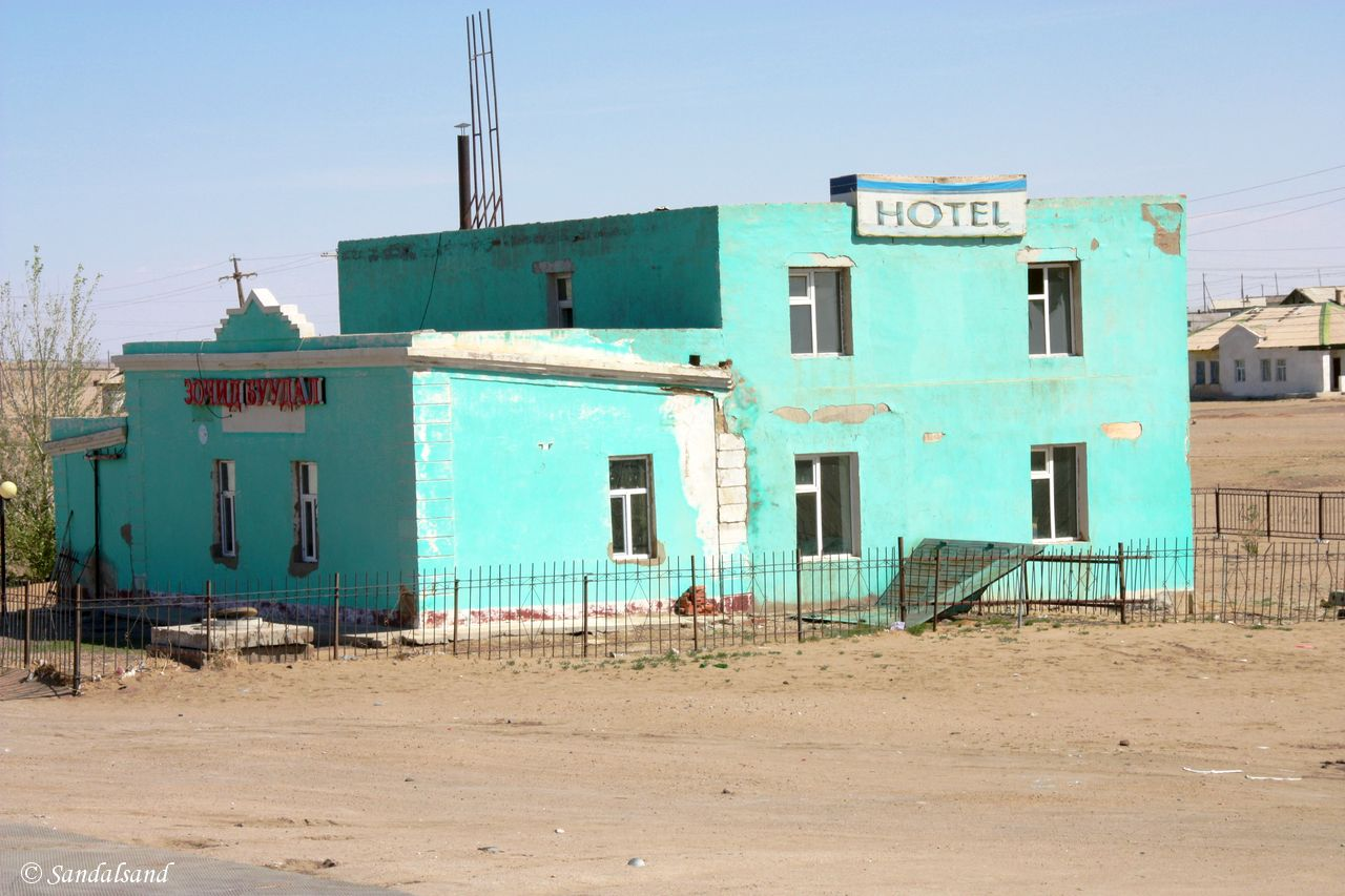 Mongolia - On the train to China - Station town of Sain-Shand