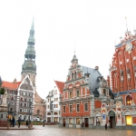 Latvia - Riga - Town Hall Square and House of the Blackheads