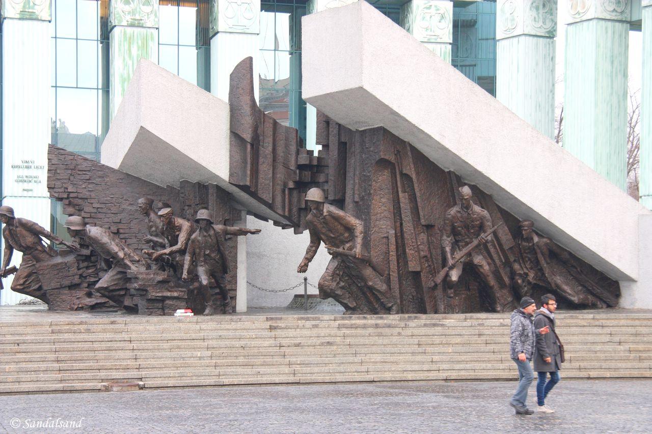 Poland - Warsaw (Warszawa) - Monument to the Warsaw Uprising Fighters
