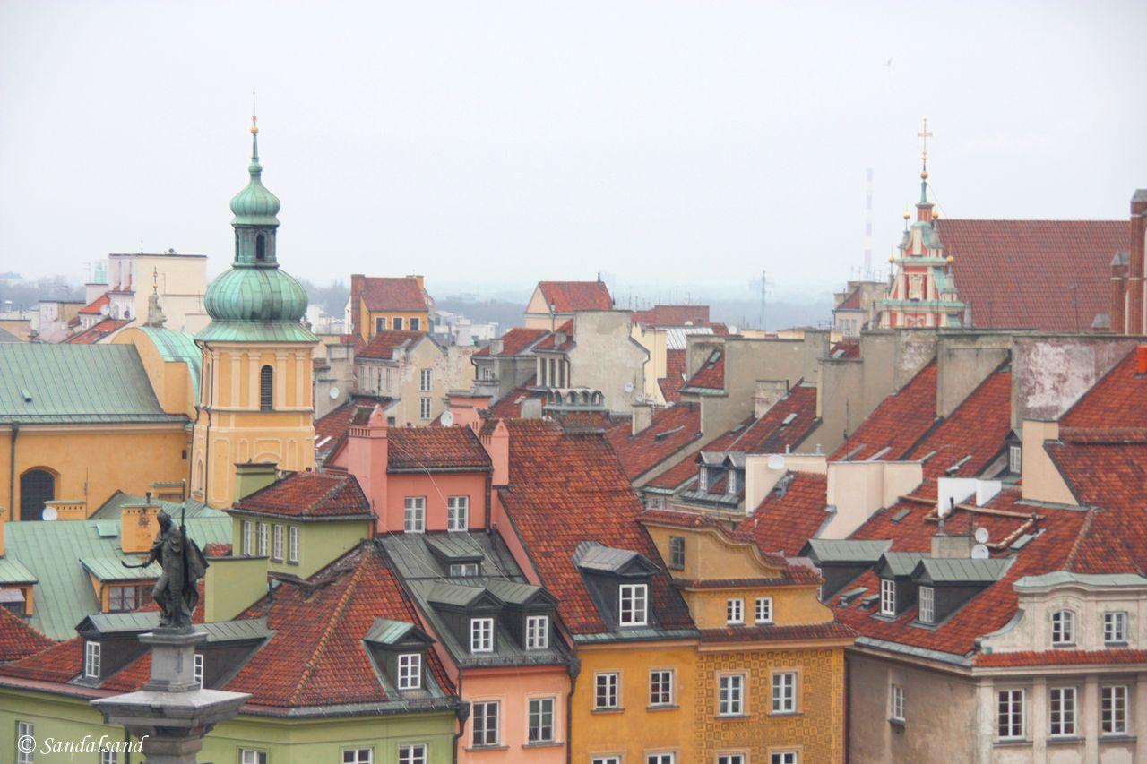 Poland - Warsaw (Warszawa) - Aerial view of the Old Town