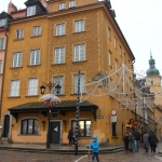 Poland - Warsaw (Warszawa) - Street leading into the Old Town from Castle Square
