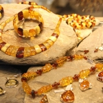 Poland - Warsaw (Warszawa) - The Old Town - Amber jewellery for sale