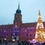 Poland - Warsaw (Warszawa) - Christmas tree in front of the Royal Castle