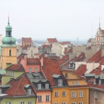 Poland - Warsaw (Warszawa) - Aerial view of the Old Town
