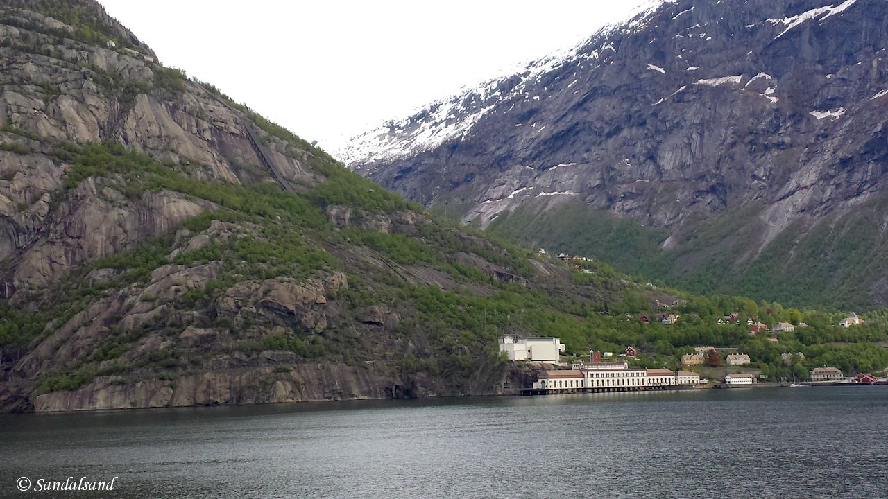 Norway - Hordaland - Odda - View across the Sørfjorden towards Tyssedal
