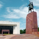 Kyrgyzstan - Bishkek - Ala-Too Square - State Historical Museum - Independence monument