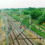 Uzbekistan - New and modern railway lines in the Uzbek countryside