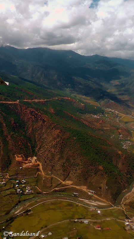 Bhutan - Paro - Aerial view