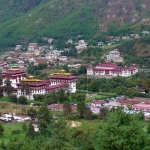 Bhutan - Thimphu - View of Tashichho Dzong and the National Assembly