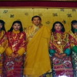 Bhutan - Dochula Pass - The former king and his four wives