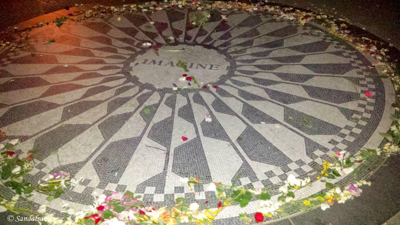 USA - New York - Central Park - Strawberry Fields