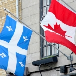 Canada - Quebec City - Flags of Quebec and Canada