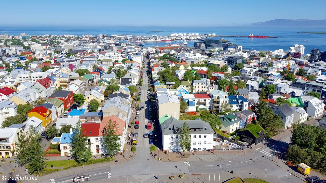 Iceland - Reykjavik - Hallgrimskirkja - View from tower