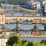 Italy - Toscana - Firenze - Piazzale Michelangelo view - River Arno - Ponte Vecchio