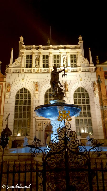 Poland - Gdansk - Neptune Fountain - Artus Court