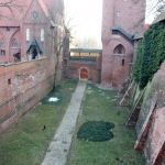 Poland - Malbork Castle - The moat between the Middle and High Castles