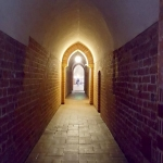 Poland - Malbork Castle - The High Castle - Corridor to the Dansker (toilet tower)