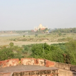 India - Agra - Agra Fort - view of Taj Mahal in the distance