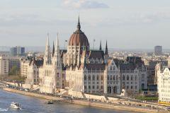 Hungary - Budapest - Buda castle view of Parliament building