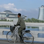 DPRK - Pyongyang - Taedong River - Ghungsong Bridge - Science and Technology Park - Unification Front Tower