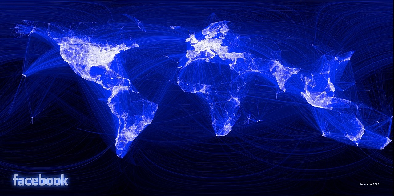 The Facebook map, 2010, based on 500 million users