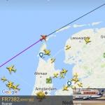 Flightradar screenshot (app version)