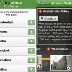 Tripadvisor London guide Screenshots, used in 2012