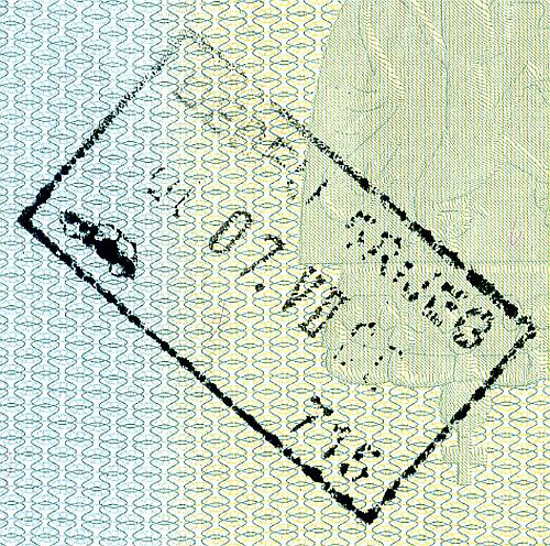 Bosnia entry or exit stamps, 2006