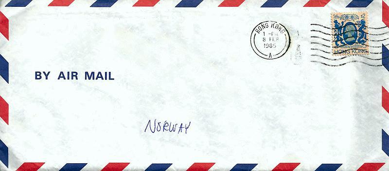 Asia 1985 Envelope-02 Hong Kong