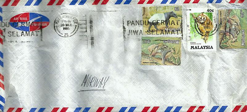 Asia 1985 Envelope-08 KL1