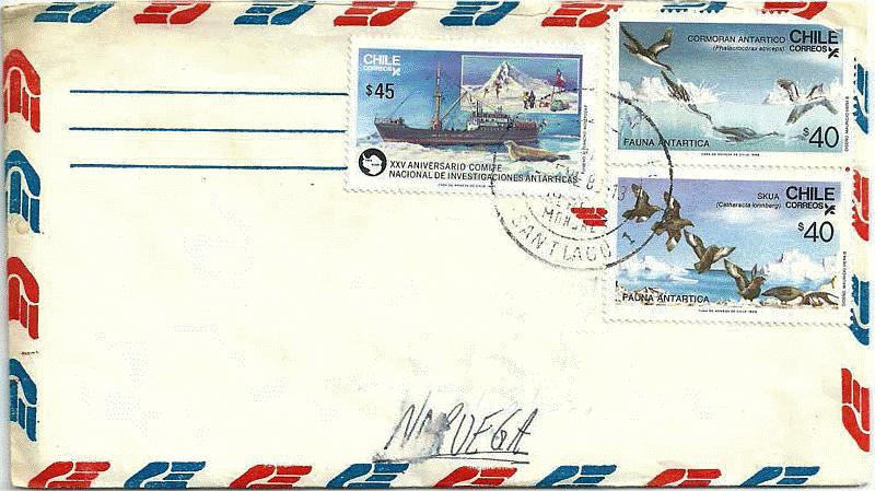 SA 1987-88 Envelope-07 Santiago