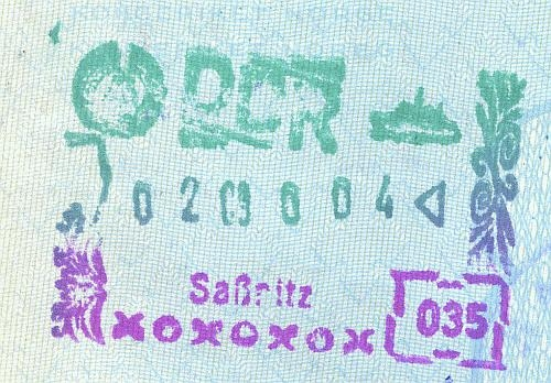 DDR entry stamp, 1990