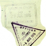 England entry and exit stamps, 1976