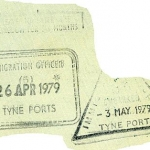England entry and exit stamps, 1979