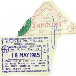 Malaysia and exit stamps, 1985