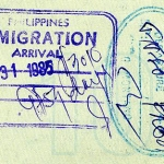 Philippines entry and exit stamps, 1985