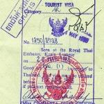Thailand visa, 1985