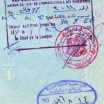 Syria entry and exit stamps, 1986