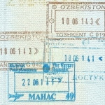 2014 Kyrgyzstan + Uzbekistan entry and exit stamps
