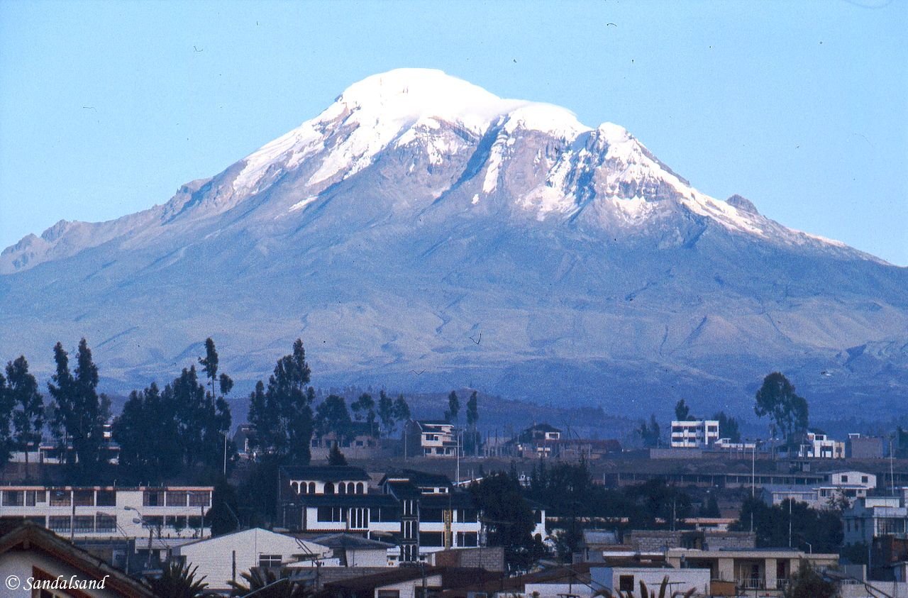A string of Andes mountain towns and volcanoes south of Quito