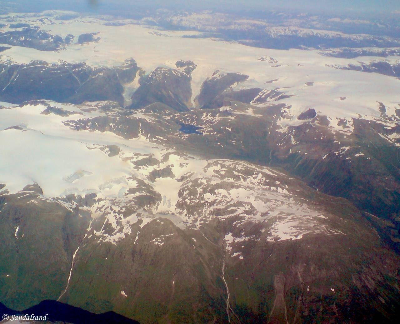 Sogn og Fjordane - Luster - Jostedalsbreen, luftfoto