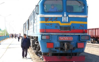 Trans-Siberian Railway (8) The train out of Mongolia