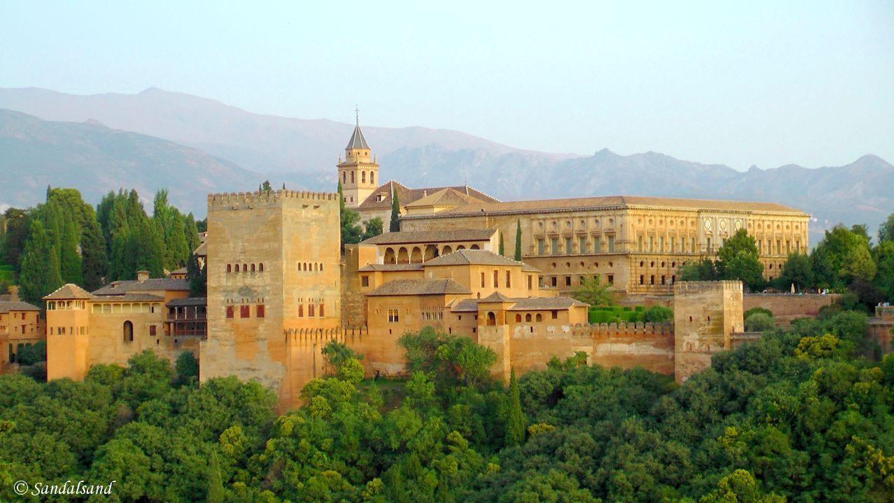 Spain - Andalucia - Granada - View of Alhambra from Albaicin