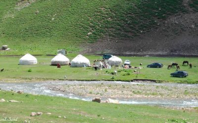Nomadic life on the mountain passes of Kyrgyzstan