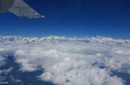 Inflight views of the Himalaya mountain range