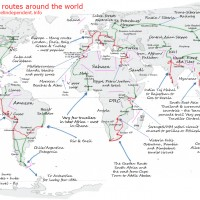 International backpacker routes